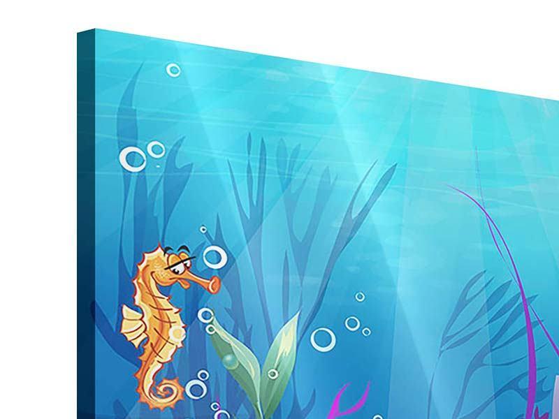 Acrylglasbild Unterwasserschatzsuche