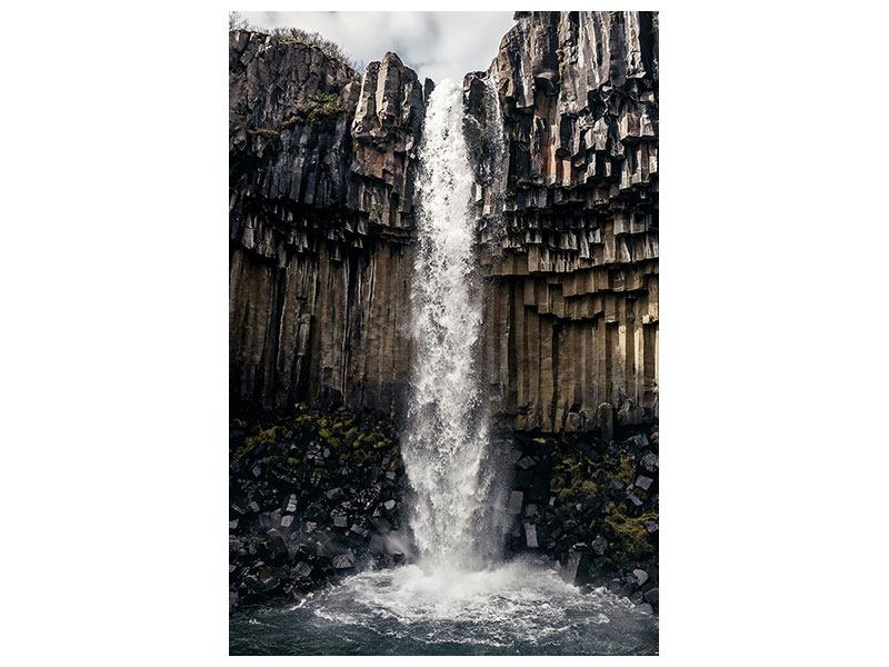 Acrylglasbild Wasserfall Island