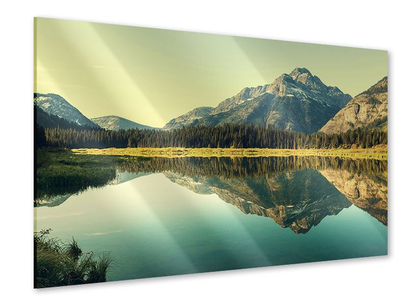 Acrylglasbild Der Bergsee