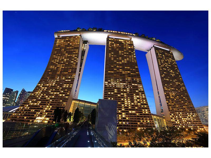 Acrylglasbild Wolkenkratzer Singapur