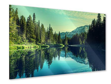 Acrylglasbild Die Musik der Stille in den Bergen