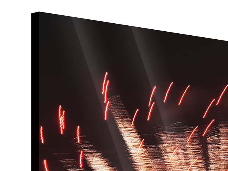 Acrylglasbild Close Up Feuerwerk