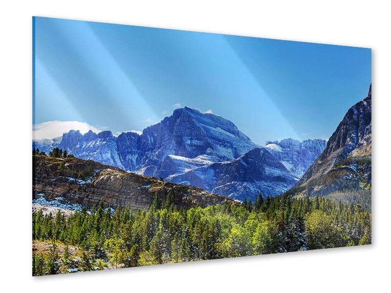 Acrylglasbild Dem Gipfel entgegen