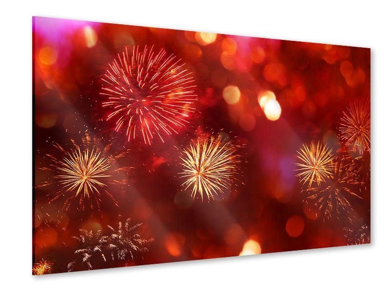 Acrylglasbild Buntes Feuerwerk