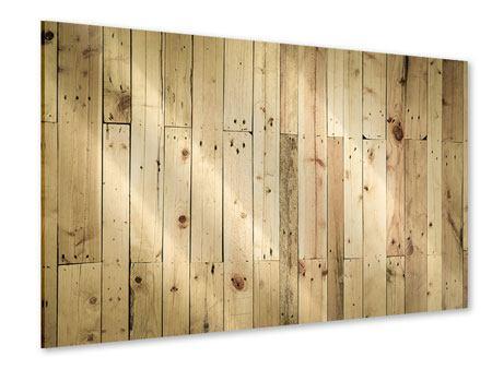 Acrylglasbild Holzpaneelen