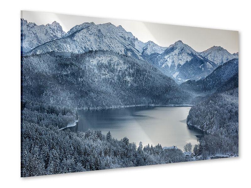 Acrylglasbild Schwarzweissfotografie Berge