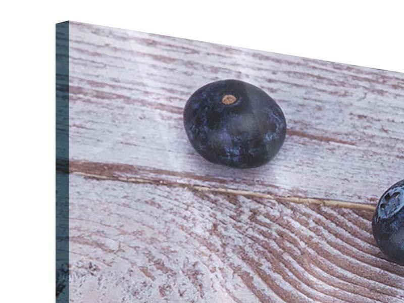 Acrylglasbild Blaubeeren