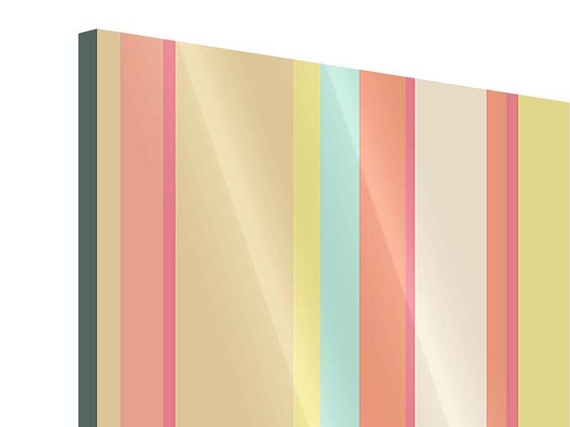 Acrylglasbild Pastell Streifen