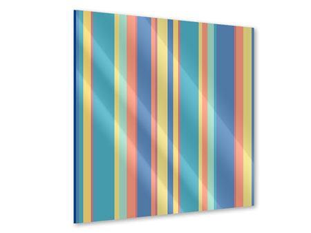 Acrylglasbild Längstreifen in Pastell