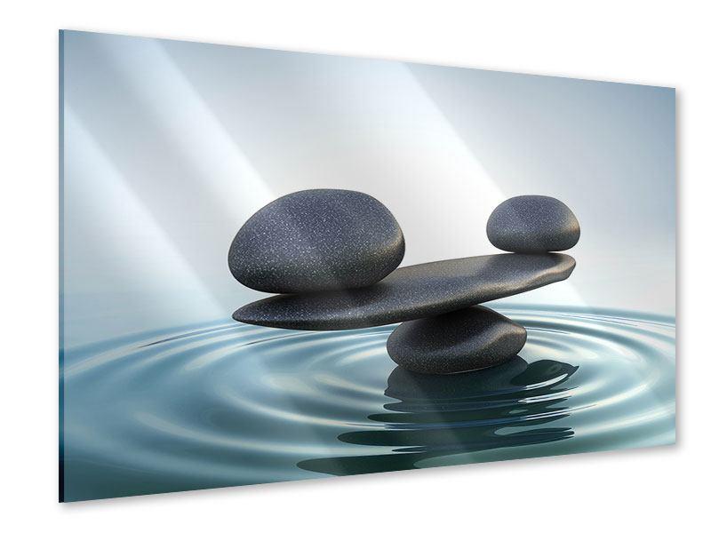 Acrylglasbild Steinbalance