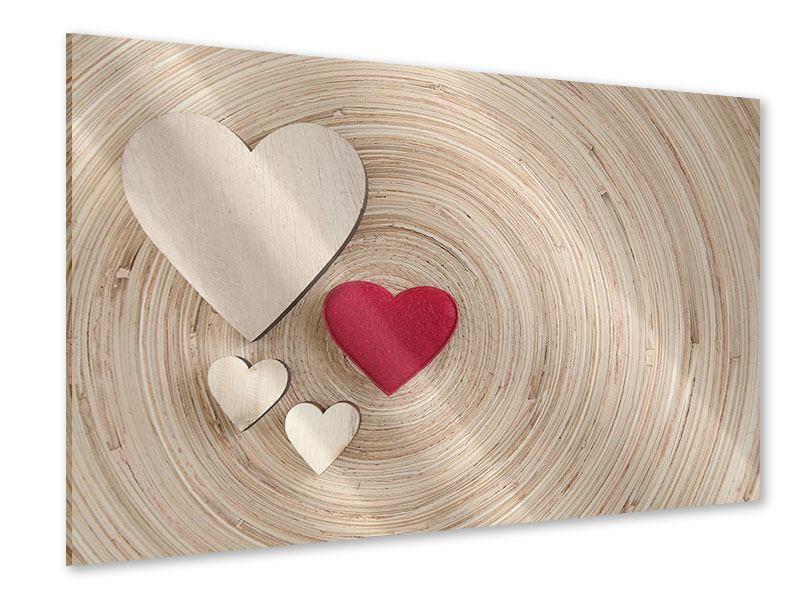 Acrylglasbild Herzen