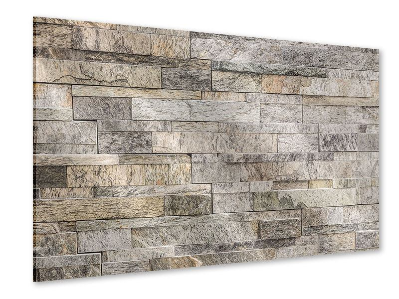 Acrylglasbild Elegante Steinmauer