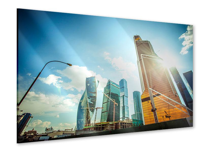 Acrylglasbild Wolkenkratzer Moskau