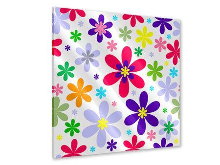 Acrylglasbild Retromode Blumen