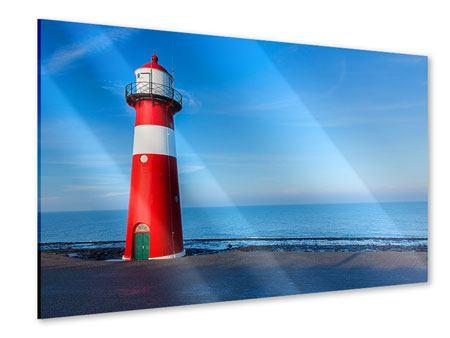 Acrylglasbild Sommer beim Leuchtturm