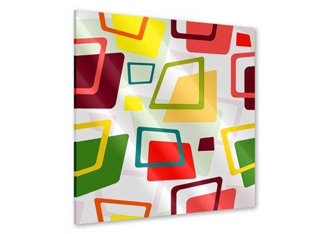 Acrylglasbild Rechtecke im Retrodesign