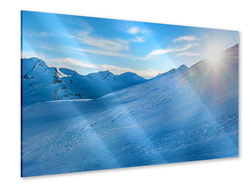Acrylglasbild Sonnenaufgang in den Bergen