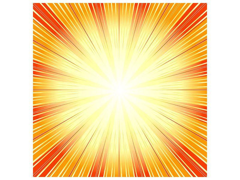 Acrylglasbild Abstrakte Retro Sonne