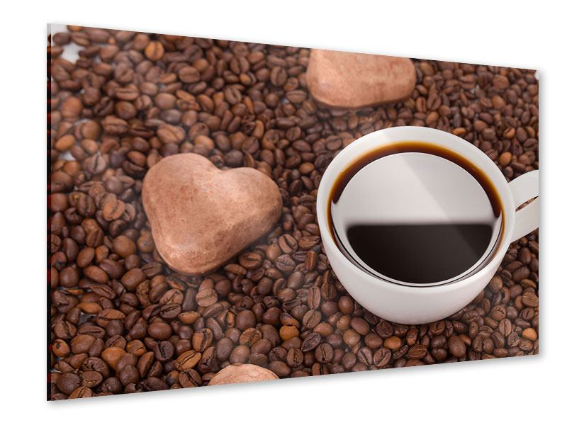 Acrylglasbild Pausenkaffee