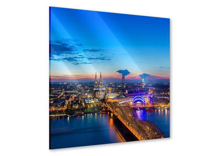 Acrylglasbild Skyline Ein Penthouse in Köln