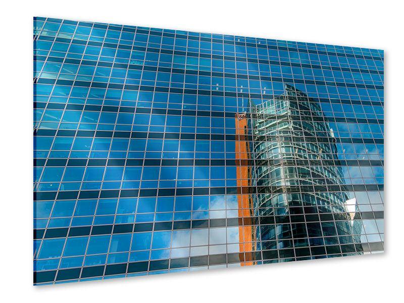 Acrylglasbild Wolkenkratzer-Spiegel