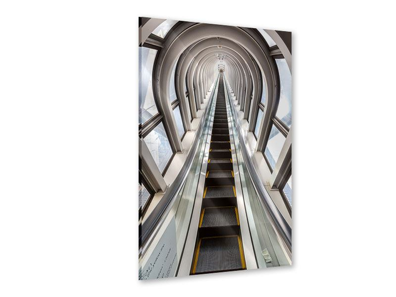 Acrylglasbild Futuristische Rolltreppe