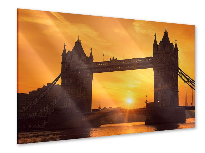 Acrylglasbild Sonnenuntergang bei der Tower-Bridge