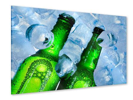 Acrylglasbild Eisflaschen