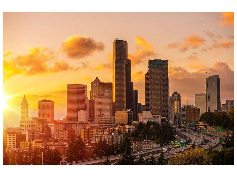Acrylglasbild Skyline Washington