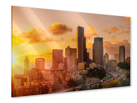 Acrylglasbild Skyline Washington