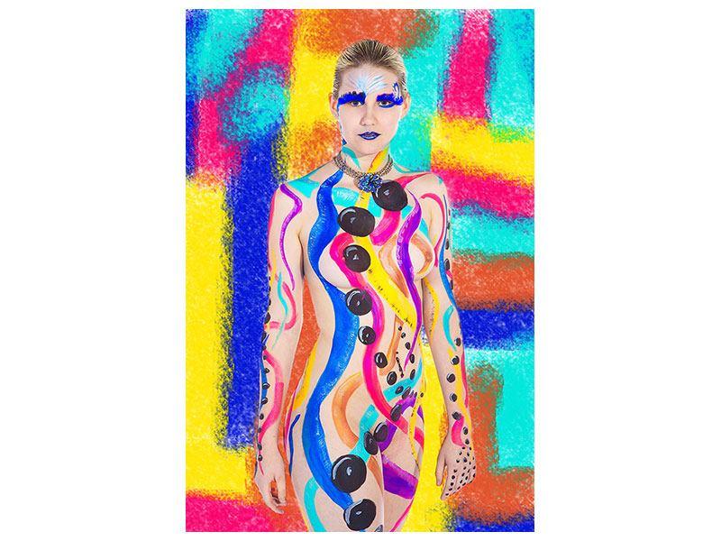 Acrylglasbild Buntes Bodypainting