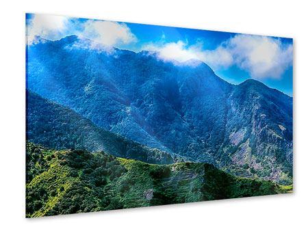 Acrylglasbild Die Berglandschaft