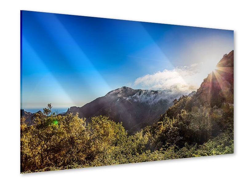 Acrylglasbild Berge am Meer