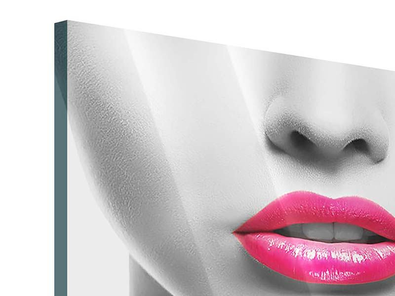 Acrylglasbild Rote Lippen