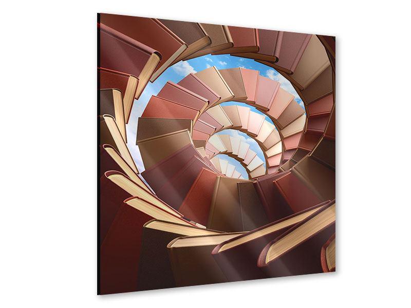 Acrylglasbild Abstrakte Bücher-Wendeltreppe