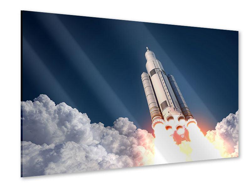 Acrylglasbild Raketenstart