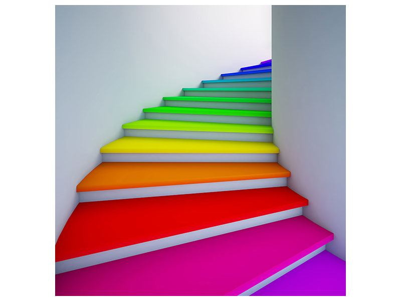 Acrylglasbild Bunte Treppe