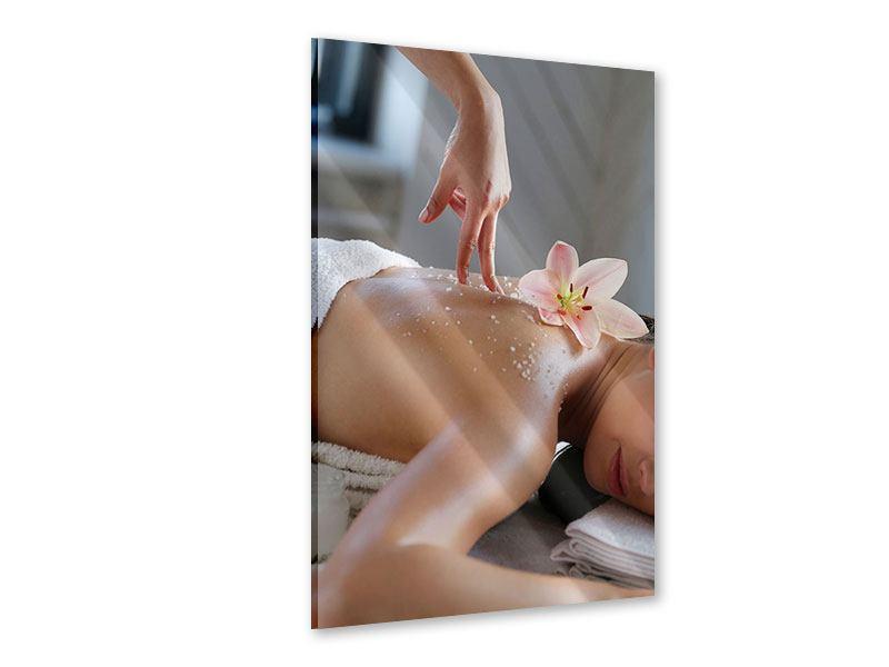Acrylglasbild Spa Massage