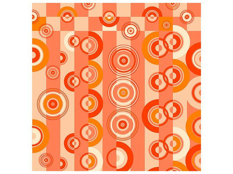 Acrylglasbild Bewegte Retro-Kreise