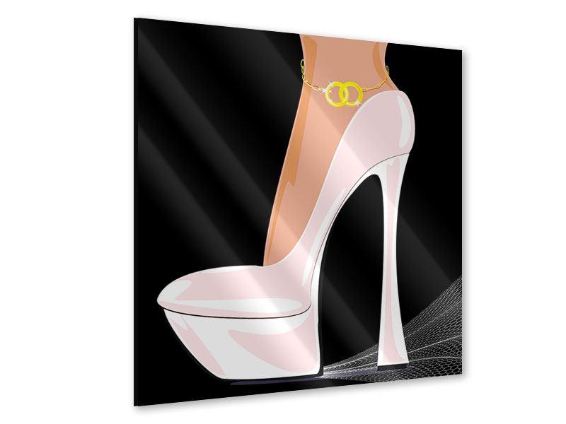 Acrylglasbild Der weisse High Heel