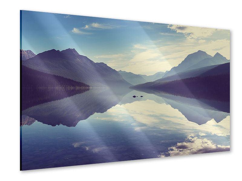 Acrylglasbild Bergspiegelung