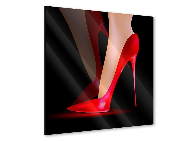 Acrylglasbild Der rote High Heel