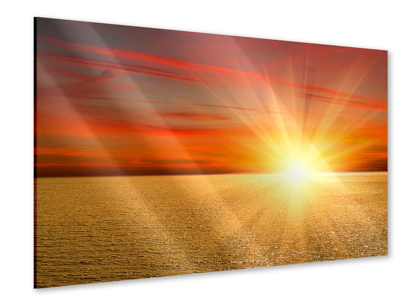 Acrylglasbild Der Sonnenuntergang