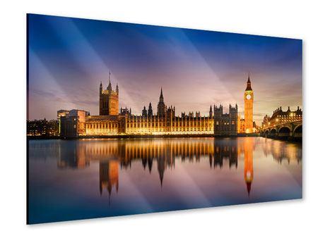 Acrylglasbild Big Ben in der Nacht