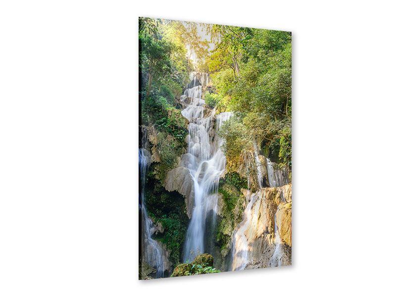 Acrylglasbild Berauschter Wasserfall