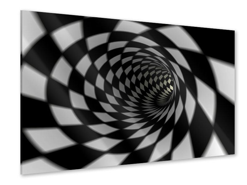 Acrylglasbild Abstrakter Tunnel Black & White