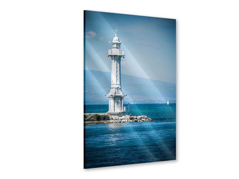 Acrylglasbild Genfer Leuchtturm