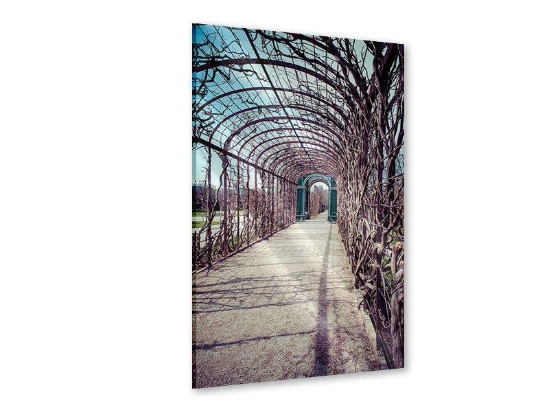 Acrylglasbild Gartenlaube