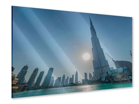 Acrylglasbild Wolkenkratzer-Architektur Dubai