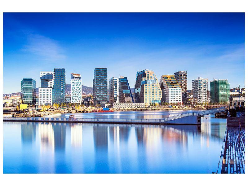 Acrylglasbild Skyline Oslo
